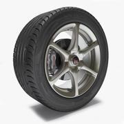 GTR R34 Wheel 3d model