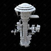 space_station 3d model
