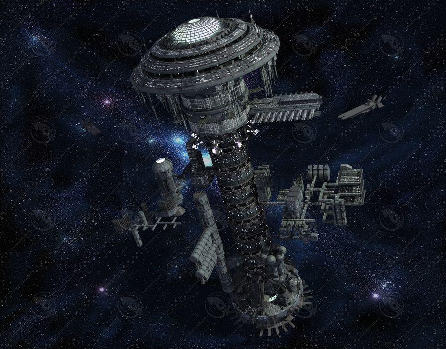 estação Espacial royalty-free 3d model - Preview no. 3