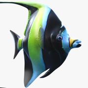 Morish Idol Tropikal Balık 3d model