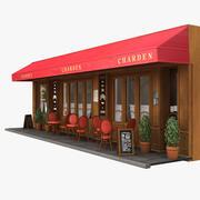 파리 레스토랑 01 3d model