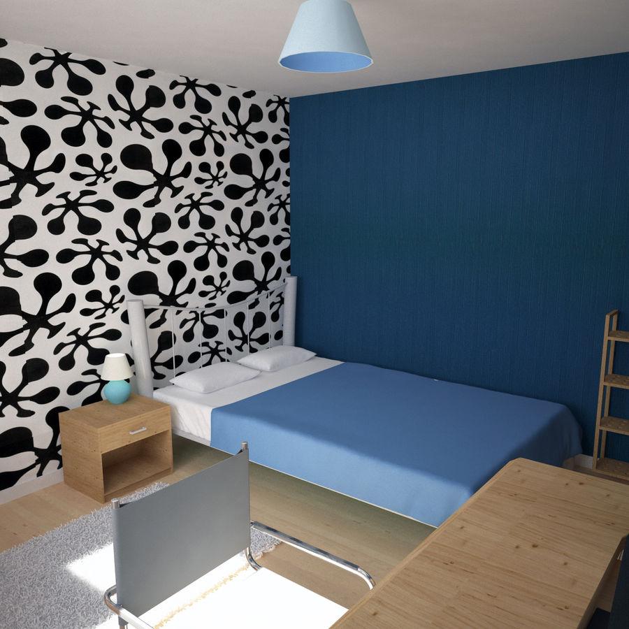 Küçük Yatak Odası Sahnesi 3 royalty-free 3d model - Preview no. 5