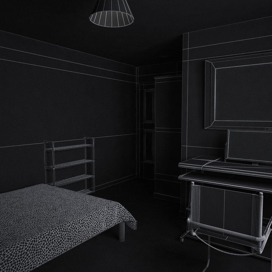 Küçük Yatak Odası Sahnesi 3 royalty-free 3d model - Preview no. 11