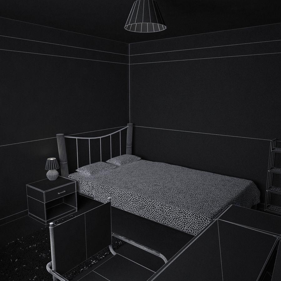 Küçük Yatak Odası Sahnesi 3 royalty-free 3d model - Preview no. 10
