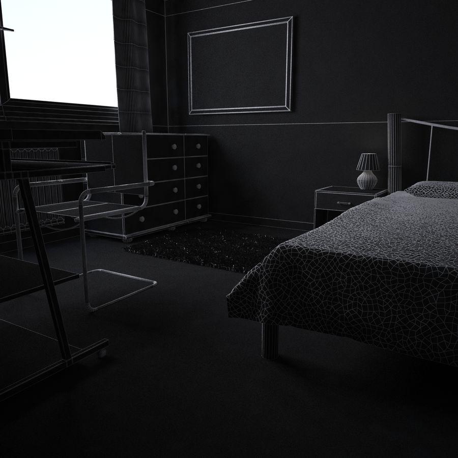 Küçük Yatak Odası Sahnesi 3 royalty-free 3d model - Preview no. 8