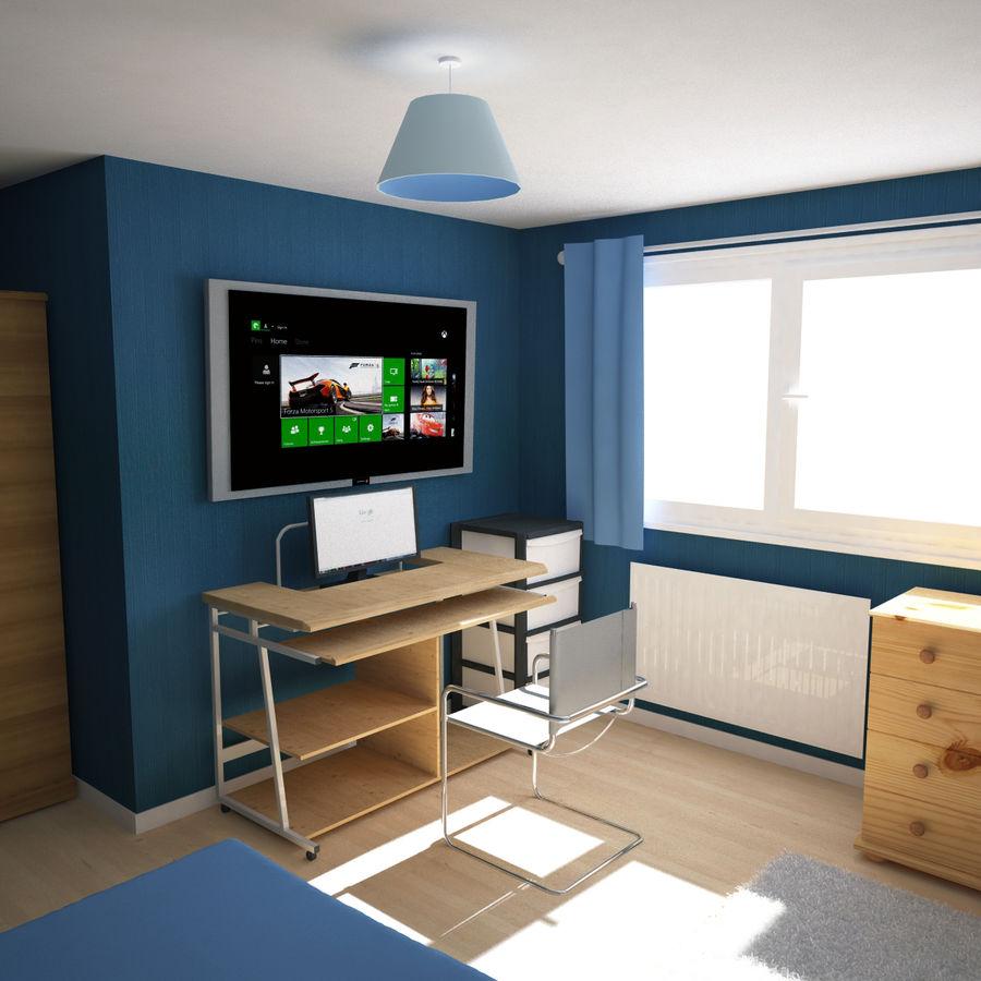 Küçük Yatak Odası Sahnesi 3 royalty-free 3d model - Preview no. 4