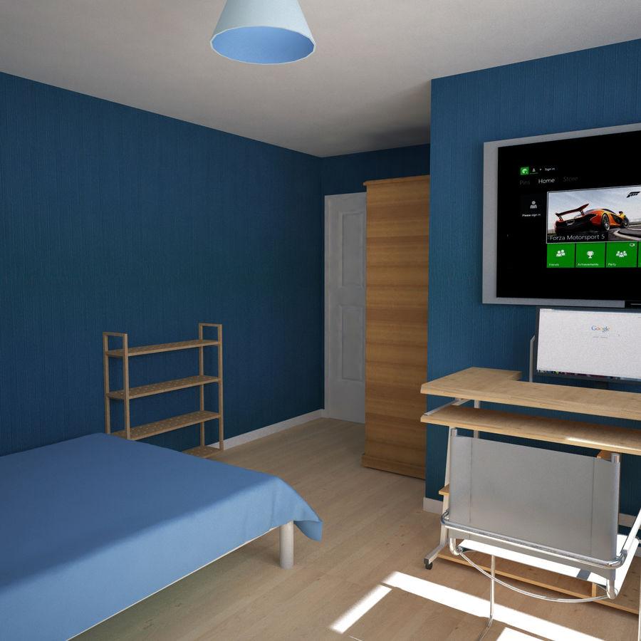 Küçük Yatak Odası Sahnesi 3 royalty-free 3d model - Preview no. 6