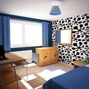Cena pequena do quarto 3 3d model