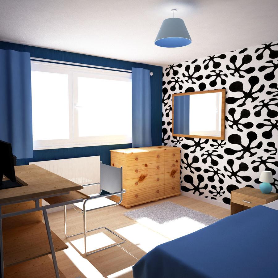 Küçük Yatak Odası Sahnesi 3 royalty-free 3d model - Preview no. 1