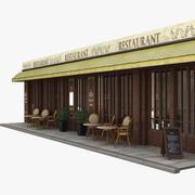 파리 레스토랑 02 3d model