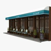 Parijs Restaurant 03 3d model