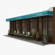 Paris Restaurant 03 3d model