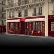 Restauracja Paris 05 3d model