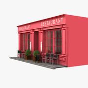Restauracja Paris 06 3d model
