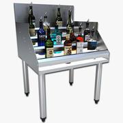 Under Bar Liquor Stand 3d model