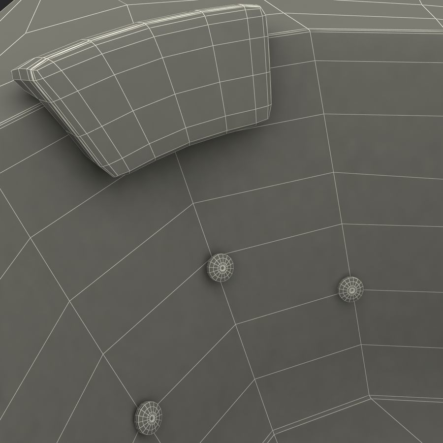 Corner Jacuzzi Bath royalty-free 3d model - Preview no. 26