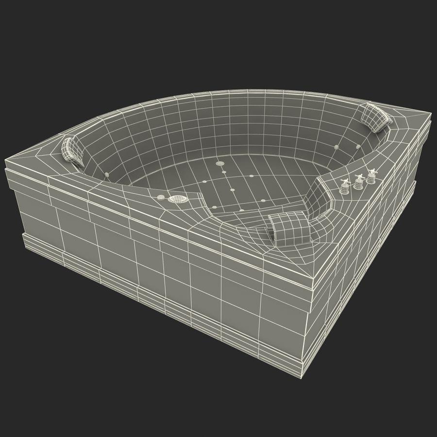 Corner Jacuzzi Bath royalty-free 3d model - Preview no. 24