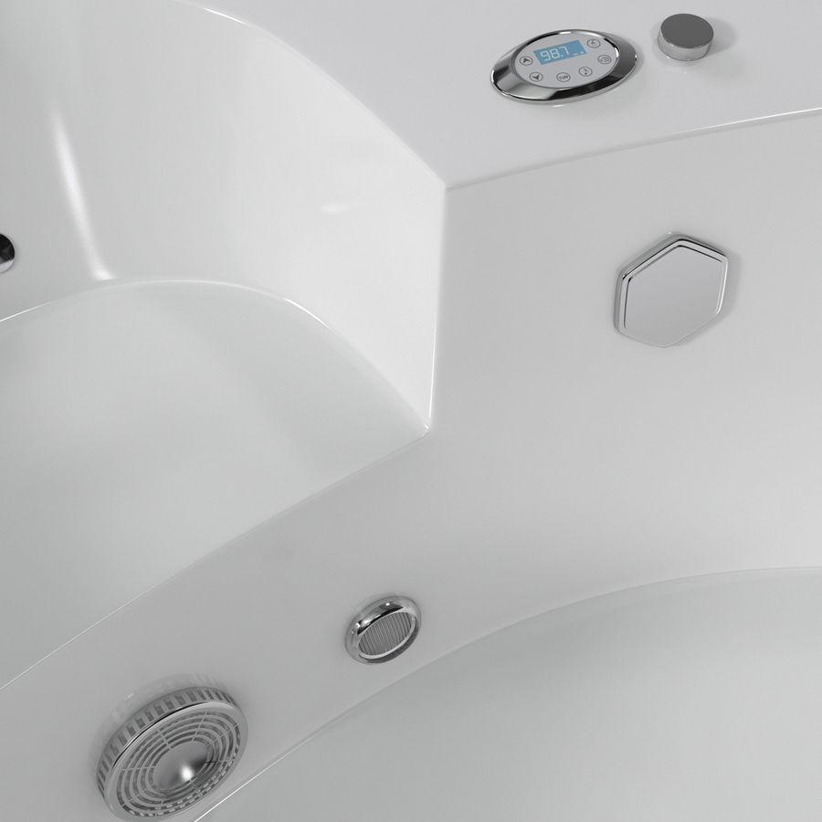 Corner Jacuzzi Bath royalty-free 3d model - Preview no. 14