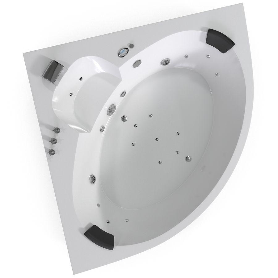 Corner Jacuzzi Bath royalty-free 3d model - Preview no. 3