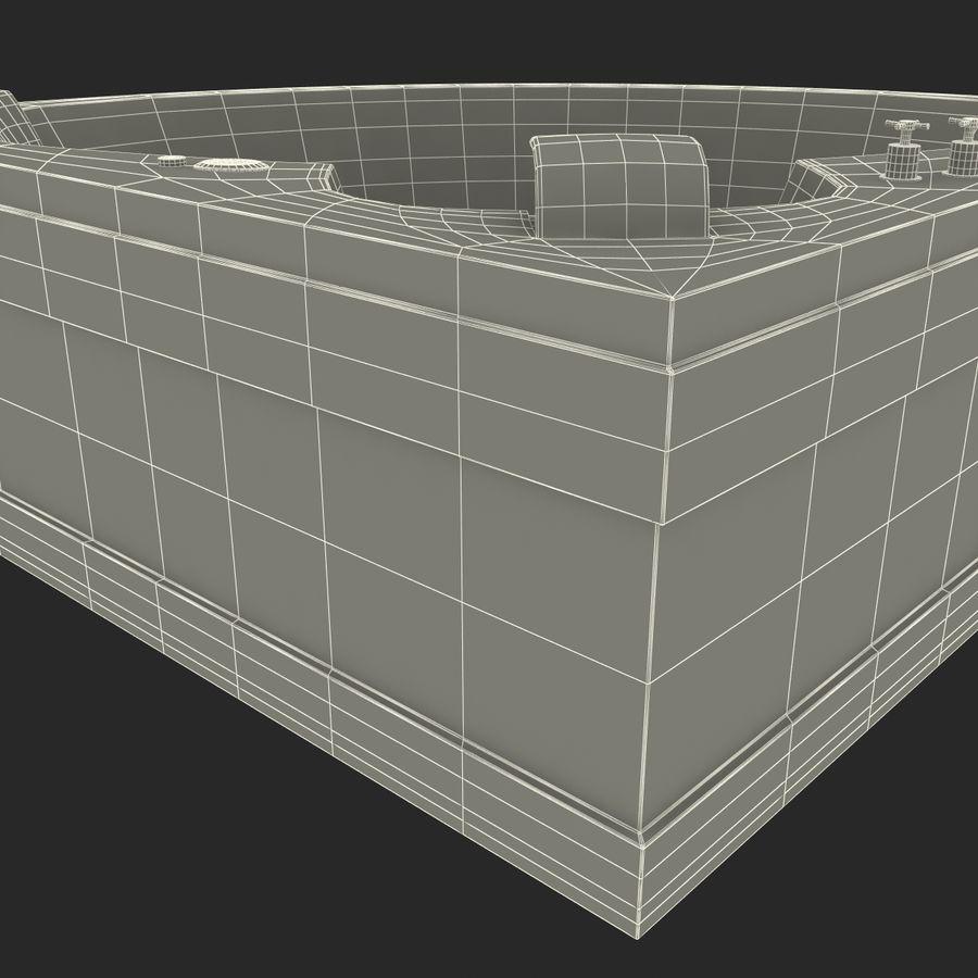 Corner Jacuzzi Bath royalty-free 3d model - Preview no. 25