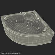 Corner Jacuzzi Bath 3d model