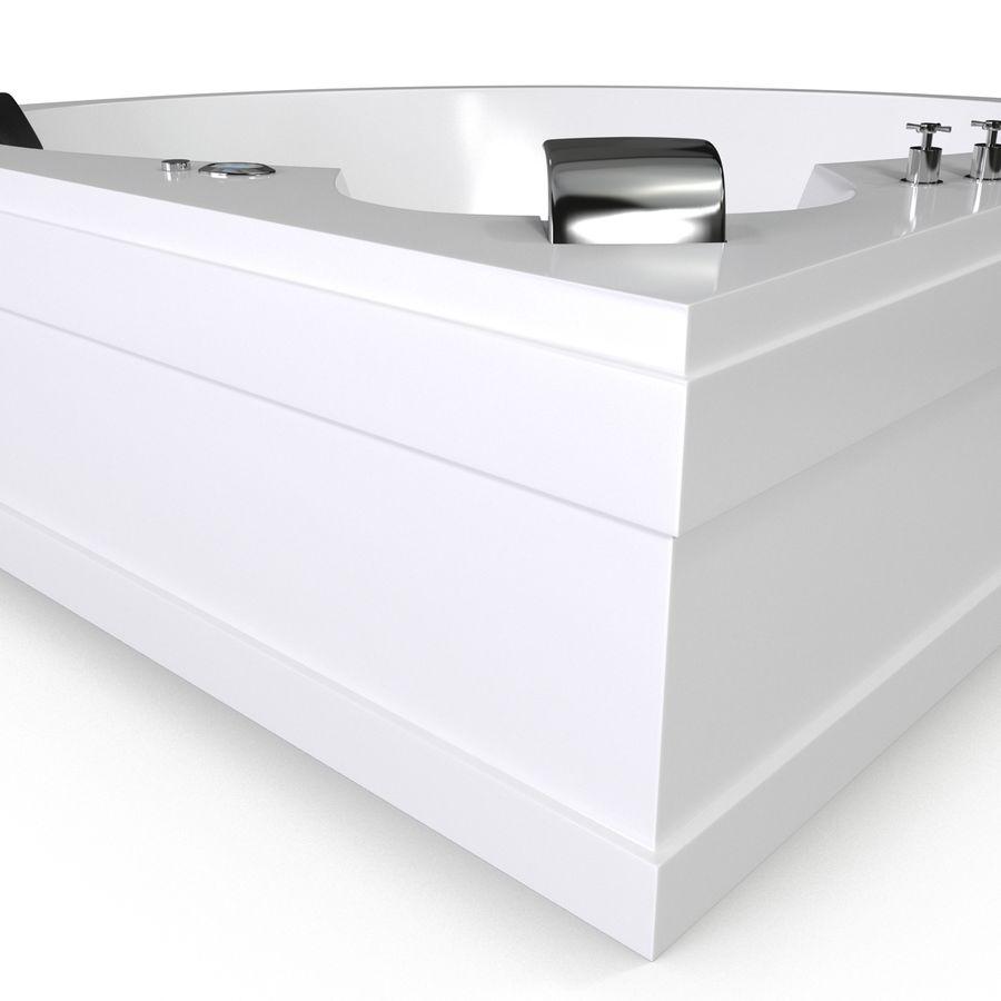 Corner Jacuzzi Bath royalty-free 3d model - Preview no. 11