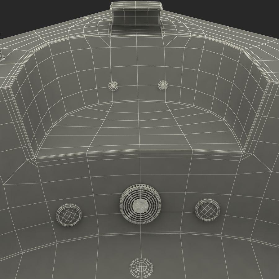 Corner Jacuzzi Bath royalty-free 3d model - Preview no. 29
