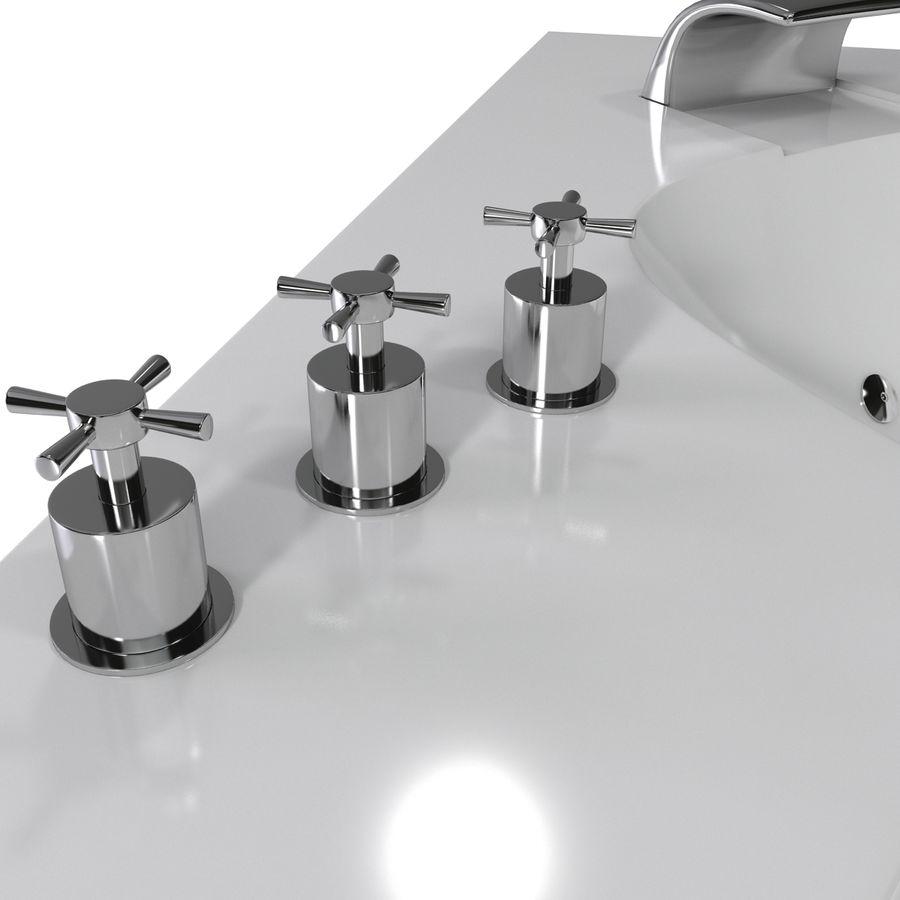 Corner Jacuzzi Bath royalty-free 3d model - Preview no. 16