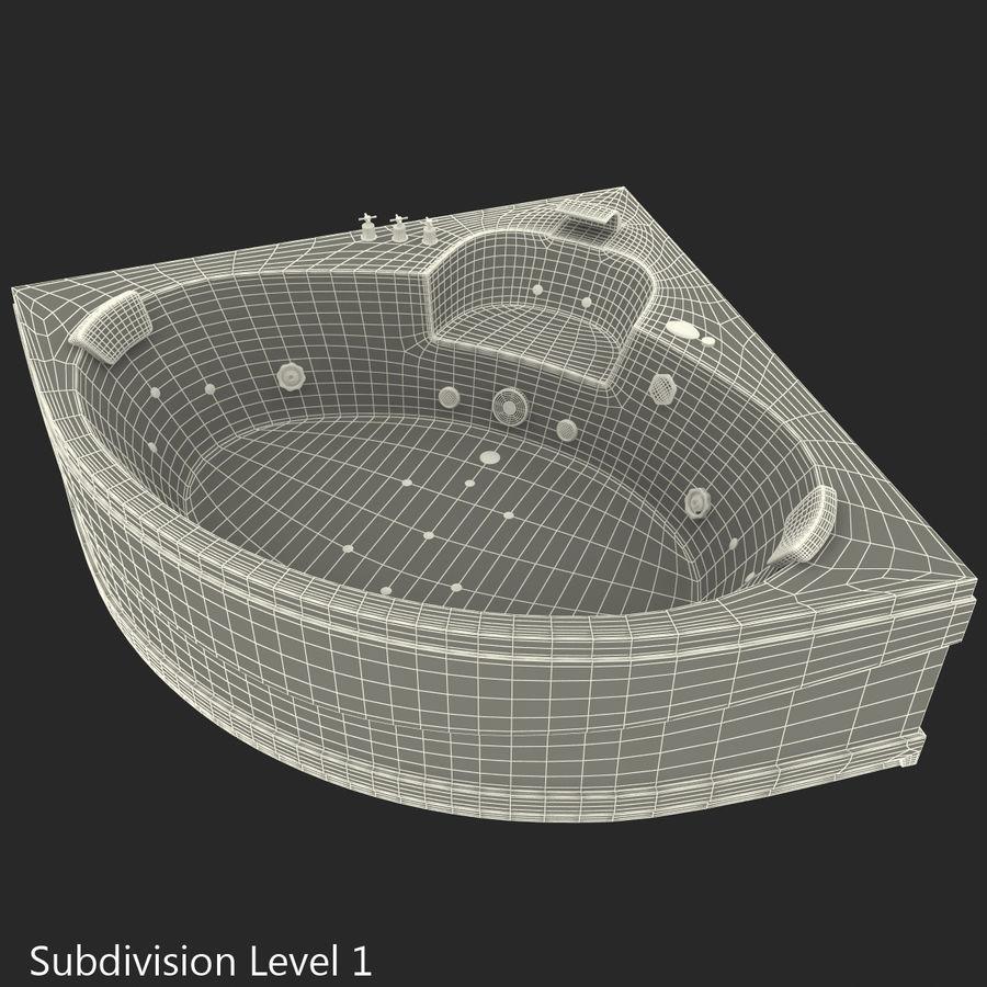 Corner Jacuzzi Bath royalty-free 3d model - Preview no. 2