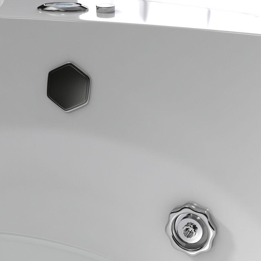 Corner Jacuzzi Bath royalty-free 3d model - Preview no. 13