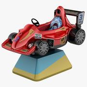 Paseo en automóvil con monedas para niños modelo 3d