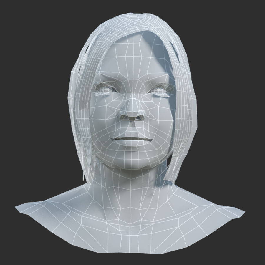 Head 4 royalty-free 3d model - Preview no. 7
