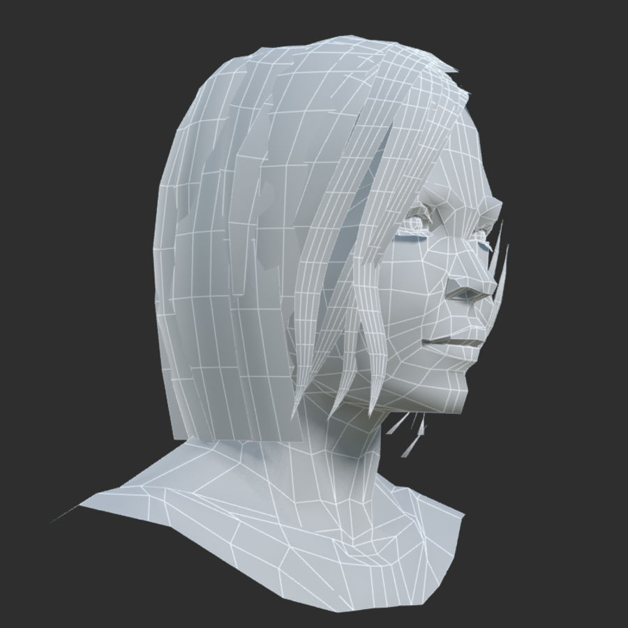 Head 4 royalty-free 3d model - Preview no. 8