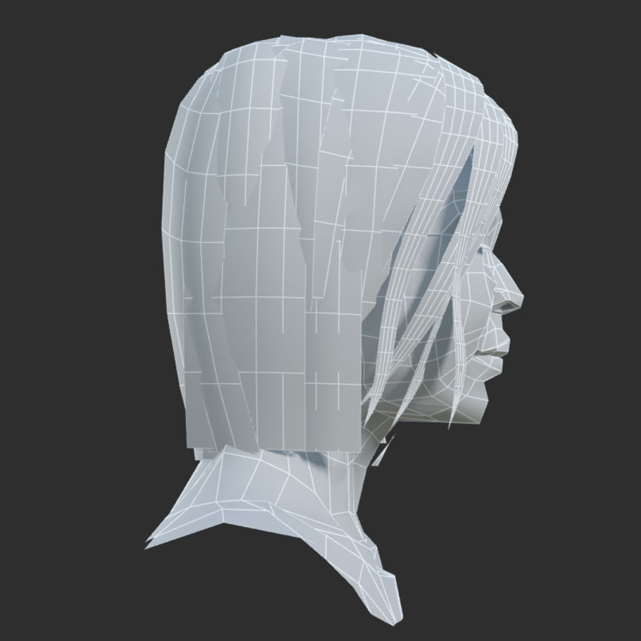 Head 4 royalty-free 3d model - Preview no. 9