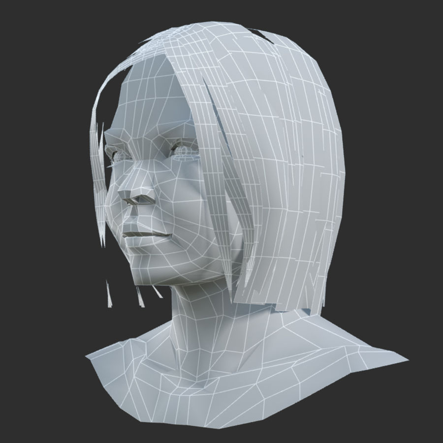 Head 4 royalty-free 3d model - Preview no. 10