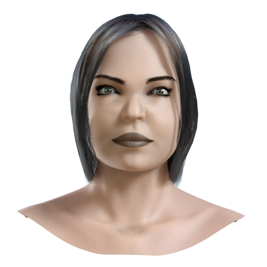 Head 4 royalty-free 3d model - Preview no. 3