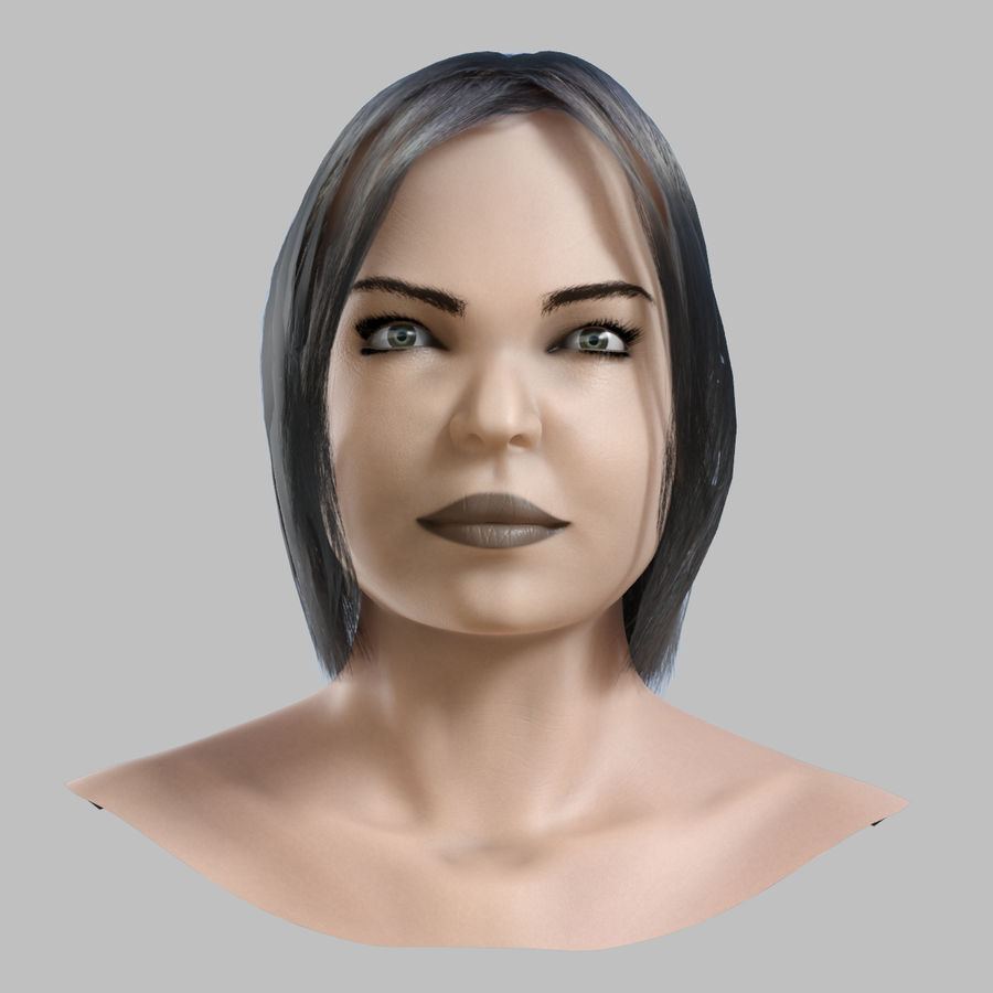 Head 4 royalty-free 3d model - Preview no. 2