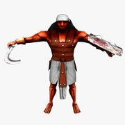 Egyptian Swordsman (RIGGED) 3d model
