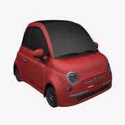 Cartoon Compact Car 3d model