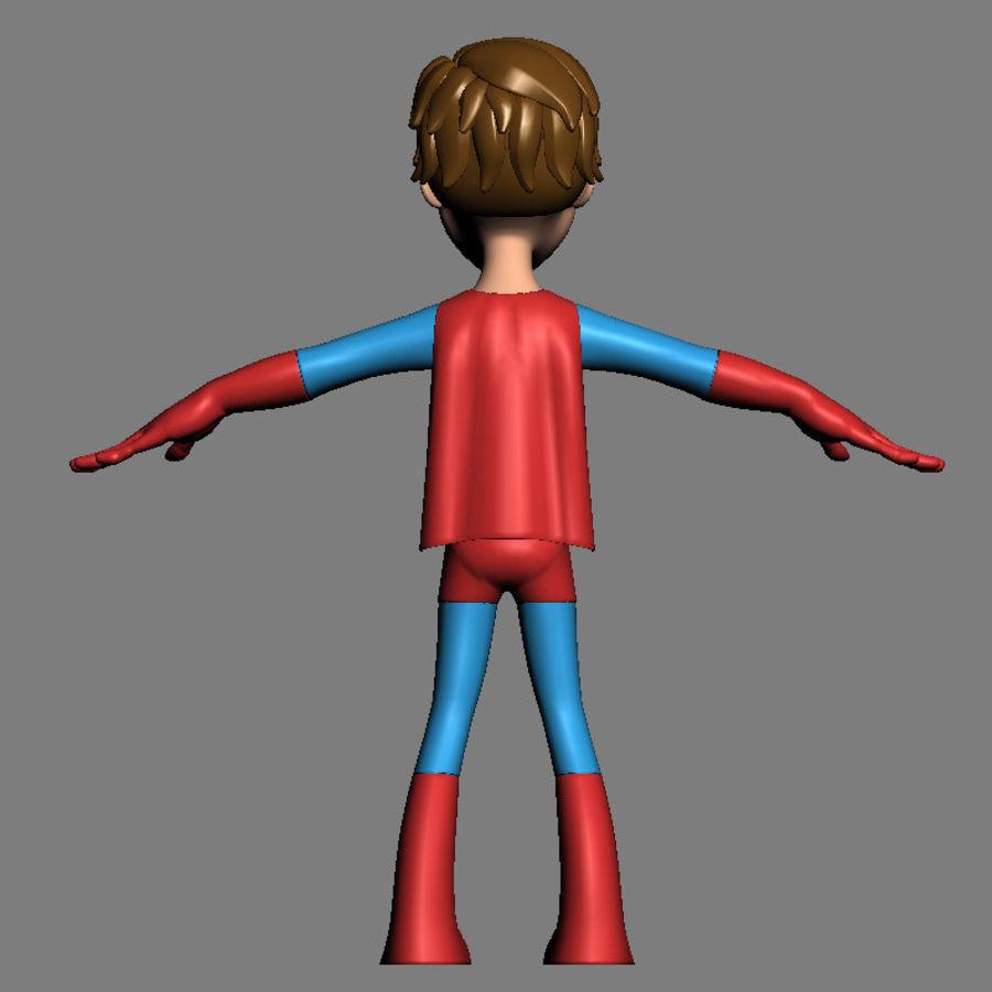 Hero Boy royalty-free 3d model - Preview no. 6