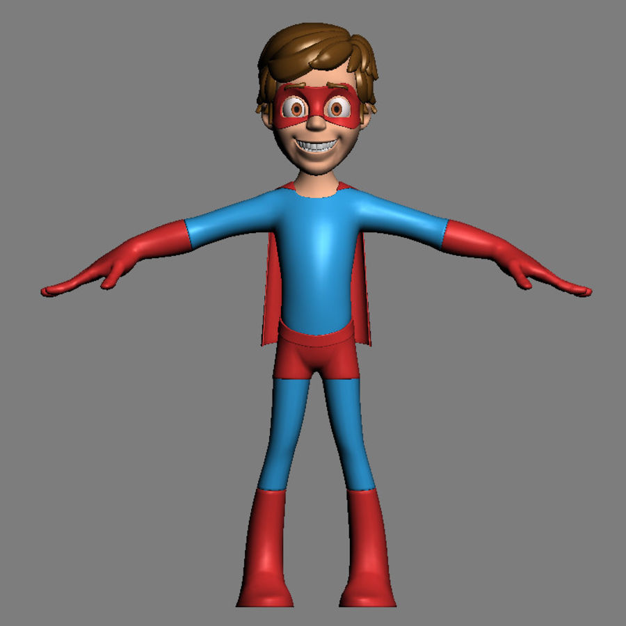 Hero Boy royalty-free 3d model - Preview no. 3