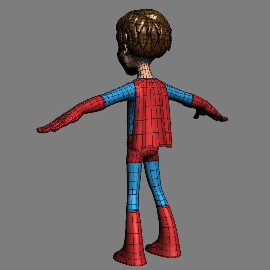 Hero Boy royalty-free 3d model - Preview no. 8