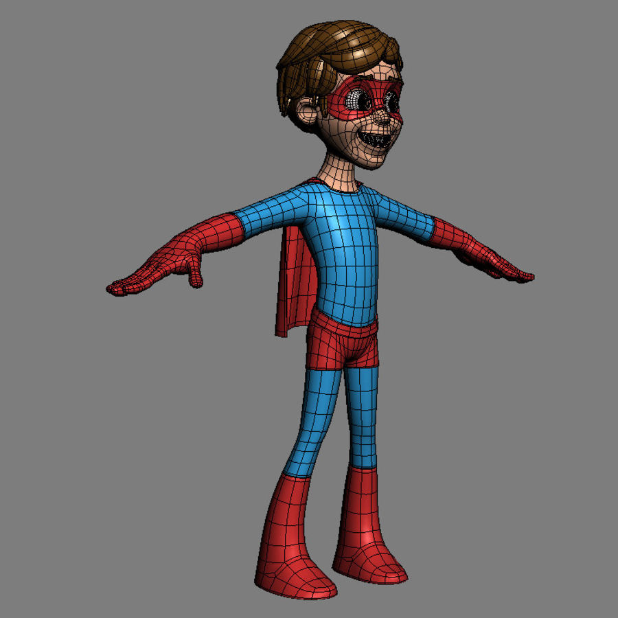 Hero Boy royalty-free 3d model - Preview no. 7