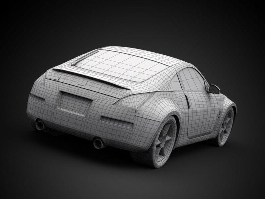 Nissan 350Z royalty-free 3d model - Preview no. 4