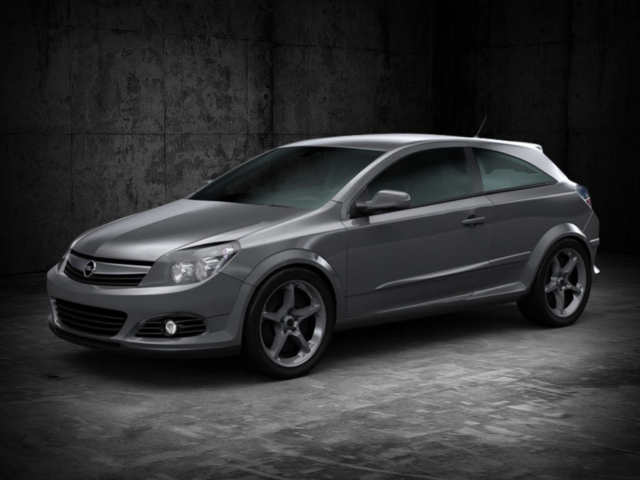 Opel Astra GTC royalty-free 3d model - Preview no. 1