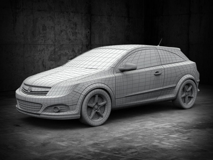 Opel Astra GTC royalty-free 3d model - Preview no. 2