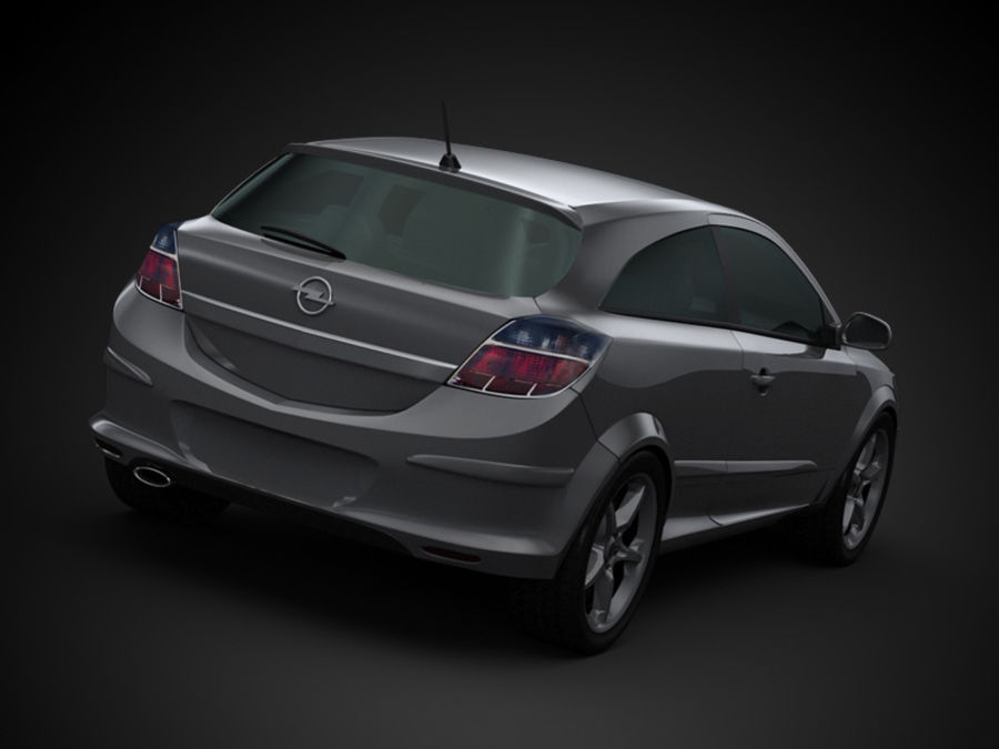 Opel Astra GTC royalty-free 3d model - Preview no. 7