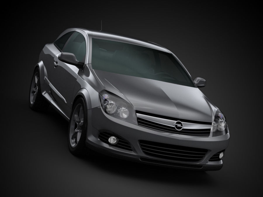 Opel Astra GTC royalty-free 3d model - Preview no. 6