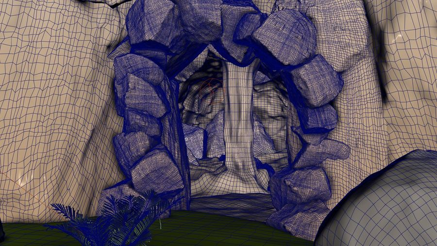 Grotta / Ambiente royalty-free 3d model - Preview no. 6