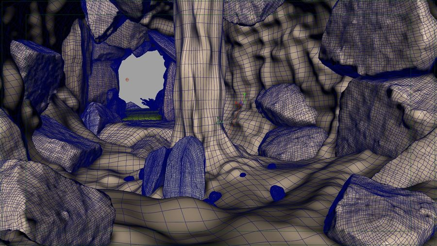 Grotta / Ambiente royalty-free 3d model - Preview no. 5